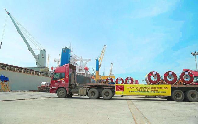 Tập đoàn Hoa Sen (HSG): Xuất khẩu tăng ngược dòng trong đại dịch, sản lượng xuất khẩu tháng 7/2020 cao kỷ lục